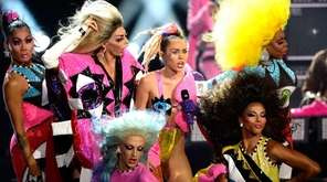 Miley Cyrus performs during the 2015 MTV Video
