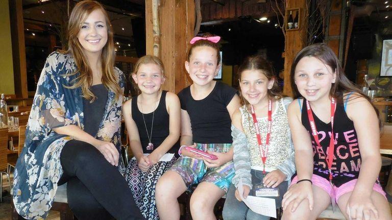 Singer Emily Hearn with Kidsday reporters Alyssa Novis,
