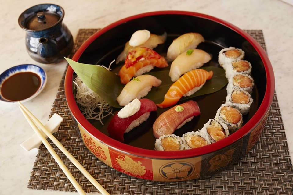 A chef's choice sushi omakase is served at