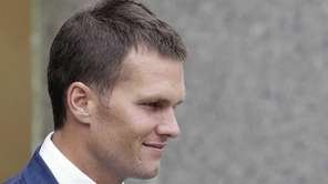 New England Patriots quarterback Tom Brady leaves federal
