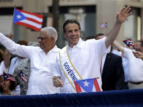 Gov. Andrew M. Cuomo walks in the Puerto