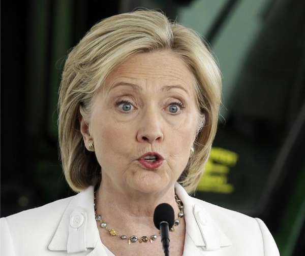 Democratic presidential candidate Hillary Rodham Clinton speaks in