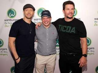 Donnie Wahlberg, Paul Wahlberg and Mark Wahlberg attend