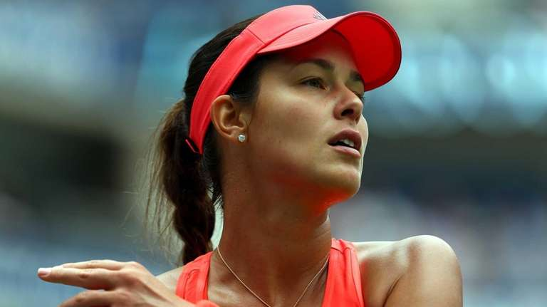 Ana Ivanovic of Serbia competes against Dominika Cibulkova