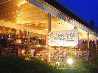 Cuvee Seafood & Grill is the restaurant inside