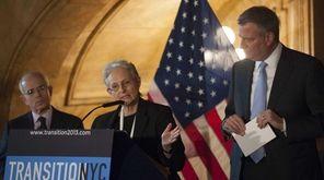 Then New York City Mayor-elect Bill de Blasio,