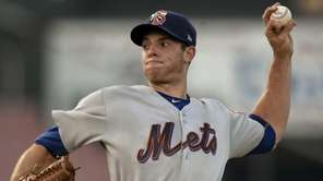 New York Mets pitcher Steven Matz delivers a