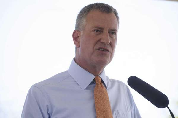 New York City Mayor Bill de Blasio in