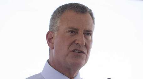 New York City Mayor Bill de Blasio in