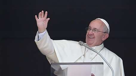 Pope Francis delivers his Sunday Angelus prayer from