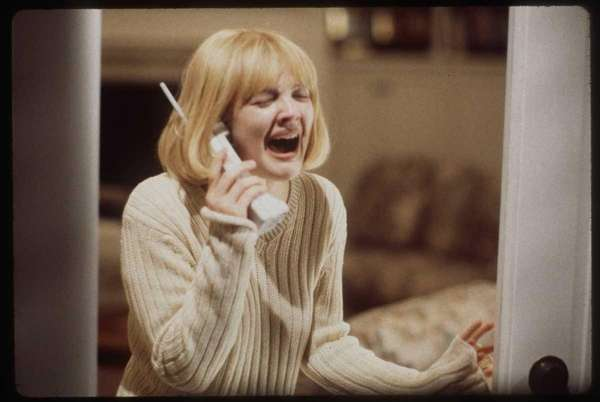Drew Barrymore in a scene from Wes Craven's