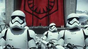 This photo provided by Disney shows stormtroopers in