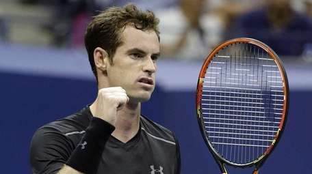 Andy Murray reacts to defeating Nick Kyrgios in