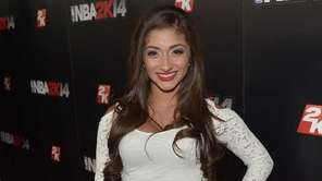 Raquel Castro attends the NBA 2K14 premiere party