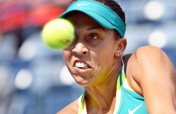 Madison Keys of the US returns to Tereza