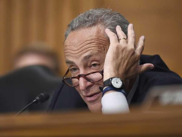Sen. Charles Schumer (D-N.Y.) speaks during a hearing