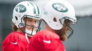 New York Jets quarterback Matt Flynn during practice