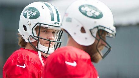 New York Jets quarterback Matt Flynn during practice