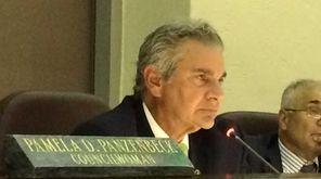 Glen Cove Mayor Reginald Spinello speaks at a