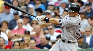 The New York Yankees' Stephen Drew hits a