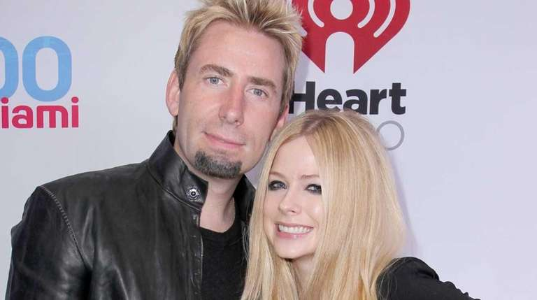 Singer Avril Lavigne and husband Chad Kroeger are