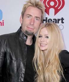 Singer Avril Lavigne and husband Chad Kroeger are