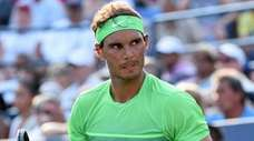 Rafael Nadal reacts during his match against Diego