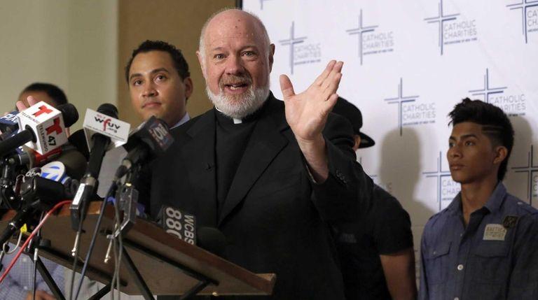 Monsignor Kevin Sullivan, the head of Catholic Charities