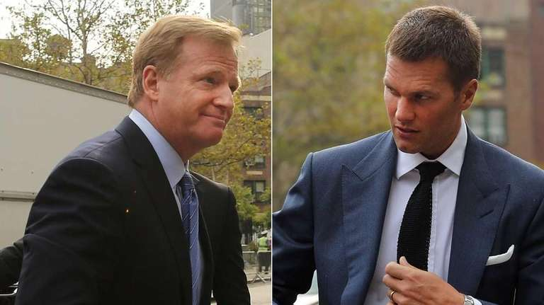 NFL Commissioner Roger Goodell, left, said the league