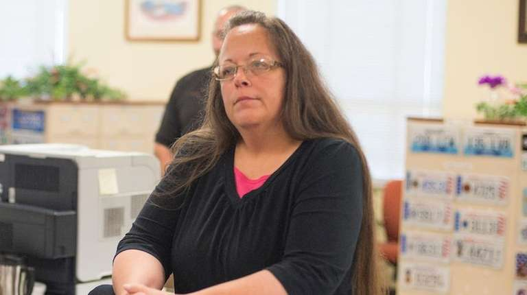 Kim Davis, the Rowan County Clerk of Courts,