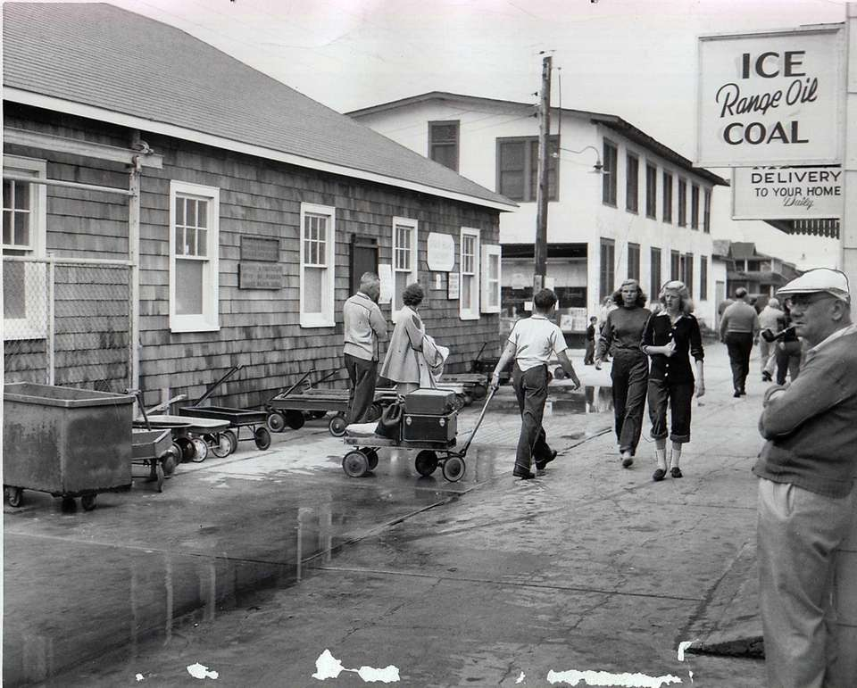An Ocean Beach street is in 1958.