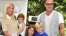 Tori Spelling, Dean McDermott and their children Finn,