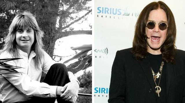 Ozzy Osbourne in Los Angeles, in 1981 (left),