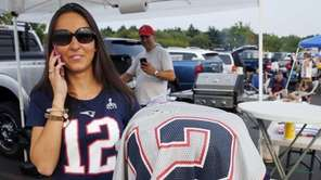 New England Patriots fan Nancy Zacharakis, of Sharon,