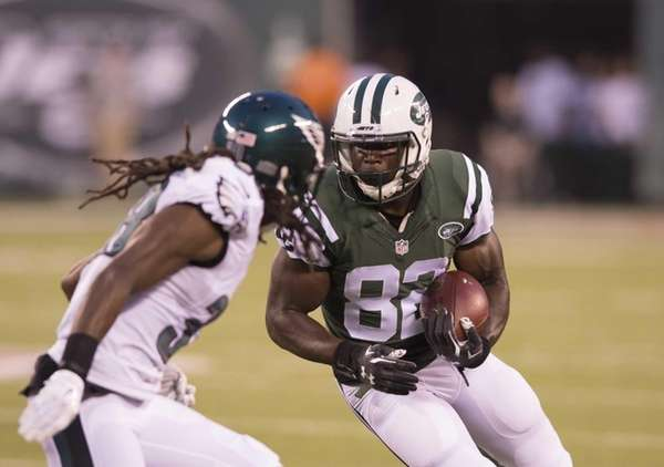 New York Jets wide receiver Quincy Enunwa runs