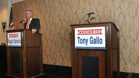 Glen Cove Mayor Reginald Spinello was the only