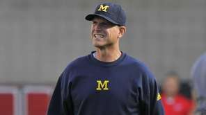 Head coach Jim Harbaugh of the Michigan