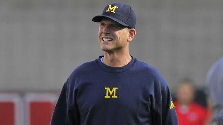 Head coach Jim Harbaugh of the Michigan