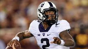 Quarterback Trevone Boykin of the TCU Horned Frogs