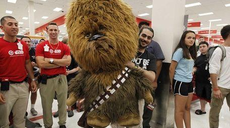 Michael Quinn win a Chewbacca in a raffle