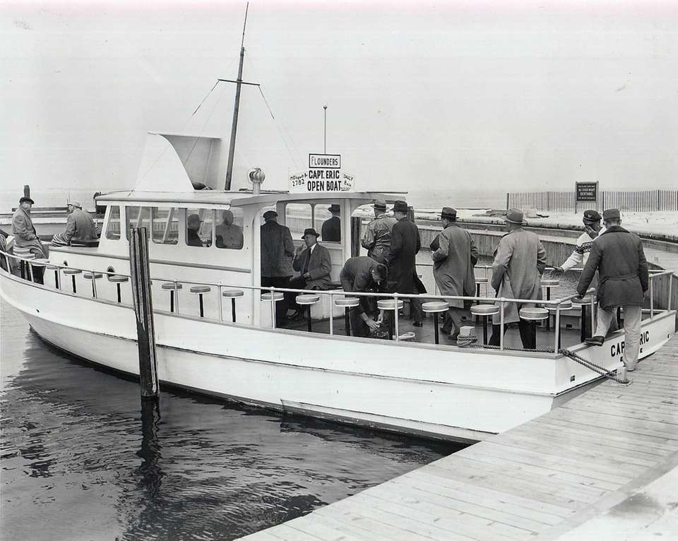 Suffolk town supervisors board a boat for the