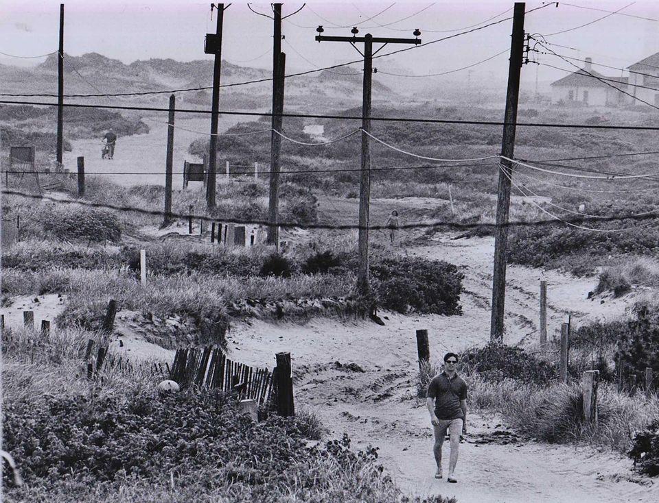 A walkway in Kismet on June 8, 1974,