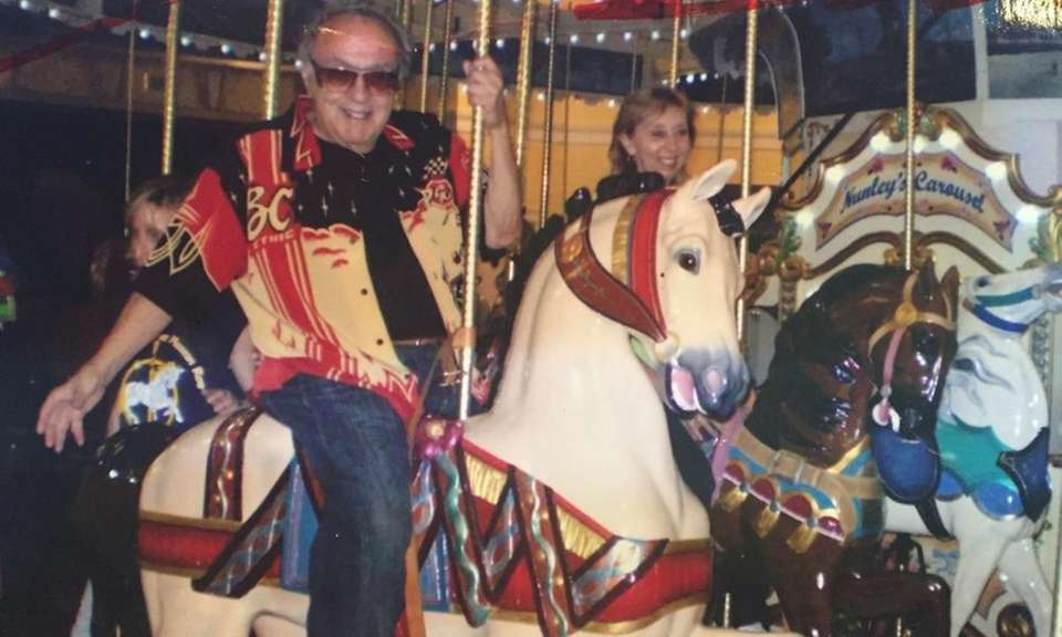 Many famous people have ridden Nunley's Carousel. Howard