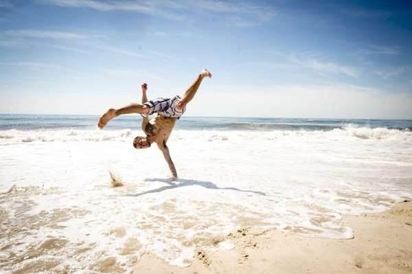 David Gomez of Bayport practices his tricking and
