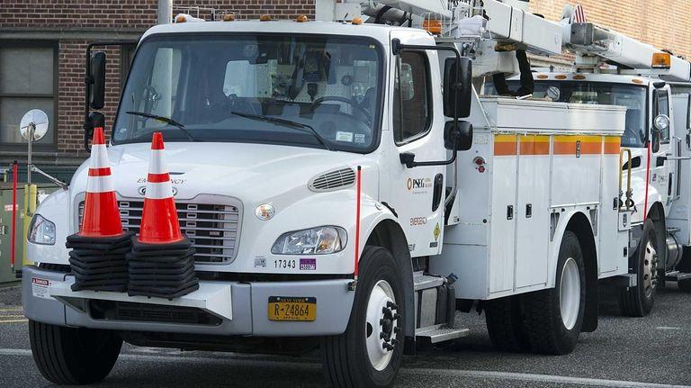 A PSEG Long Island truck in Hicksville on
