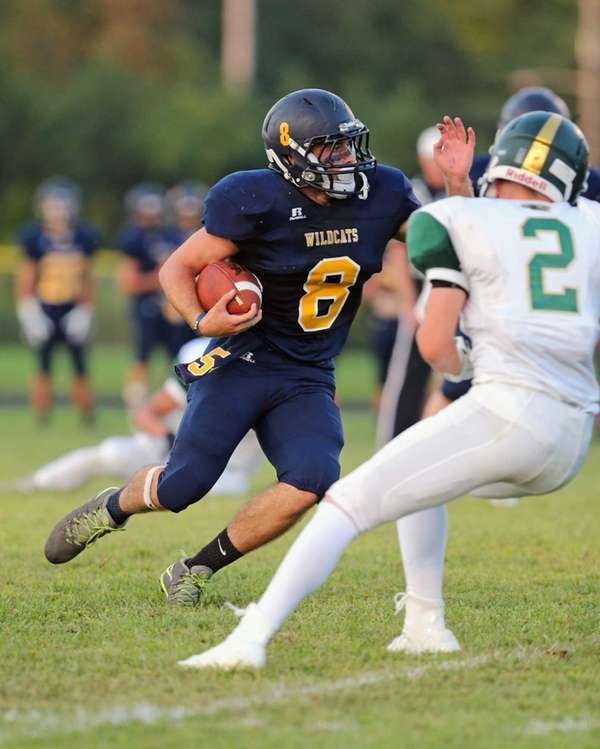 Shoreham-Wading River running back Chris Rosati had a
