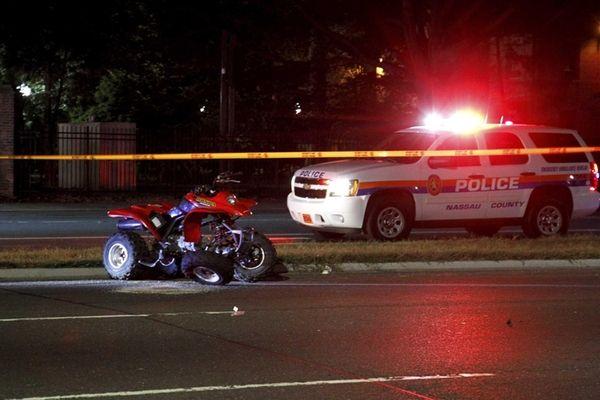 Nassau police investigate an accident between an all-terrain