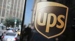 A United Parcel Service logo is displayed on