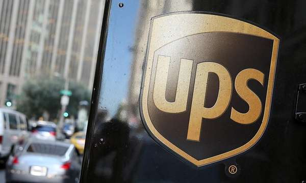 A United Parcel Service delivery truck on Oct.