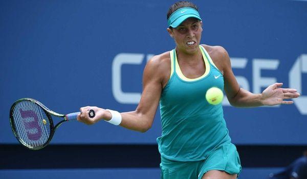 Madison Keys returns to Tereza Smitkova during the